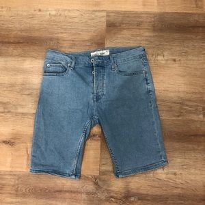 TOPMAN stretch skinny jean shorts